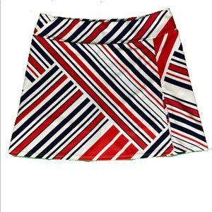Jude Connally Morgan Skort in Patchwork Stripe Red